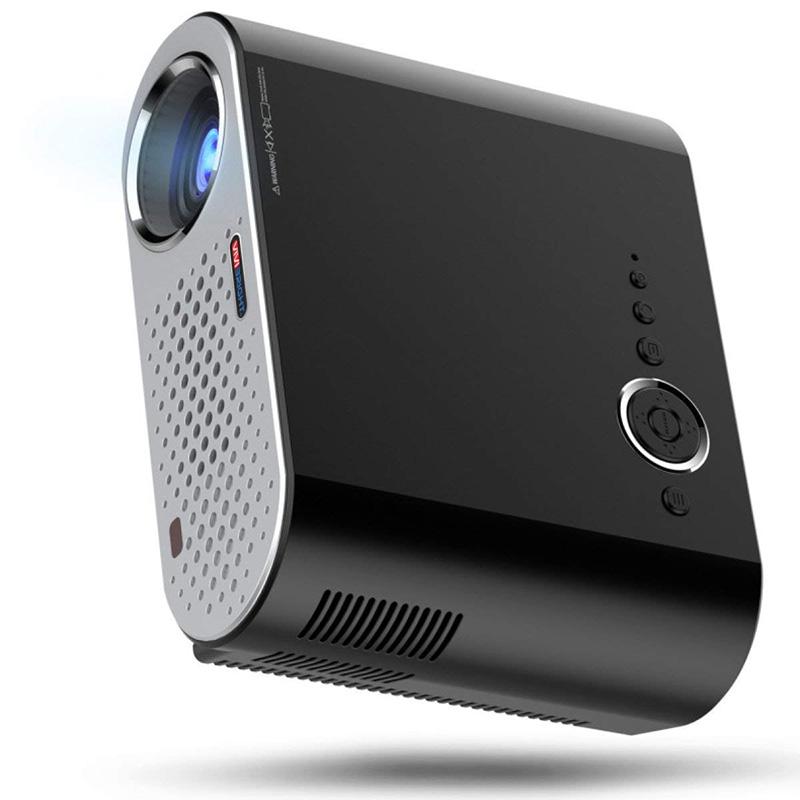 Mini Projecteur BHUE GP90 Maison Projecteur HD 1080P Intelligent Wifi