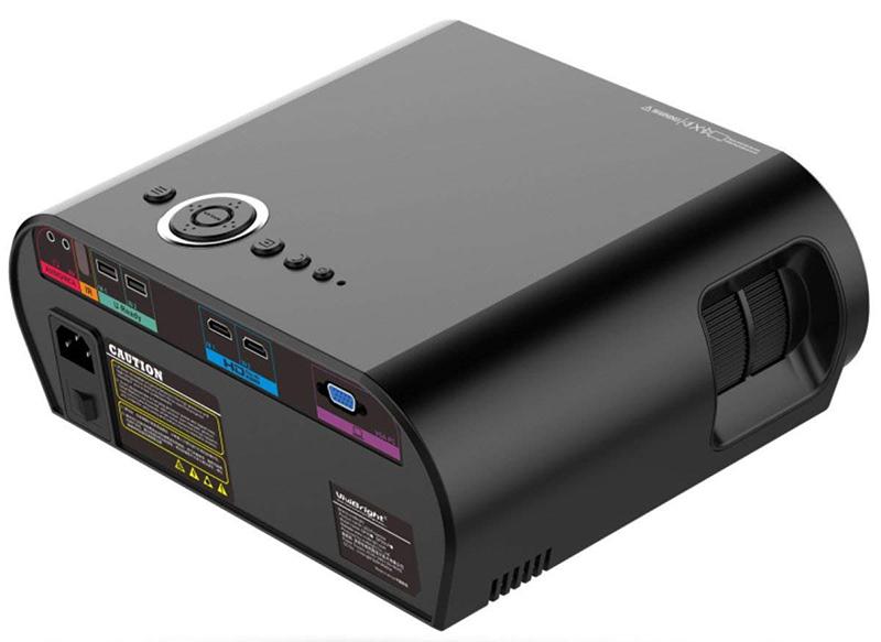 Mini Projecteur BHUE GP90 Maison Projecteur HD 1080P - Vue arrière
