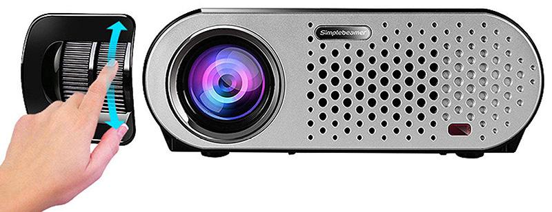Mini Projecteur BHUE GP90 Maison Projecteur HD 1080P - Vue devant